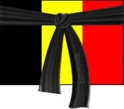 Drapeau Belge deuil